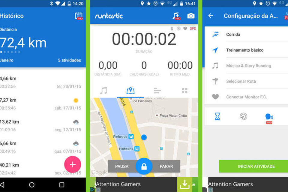 runtastics-apps para treinar em casa